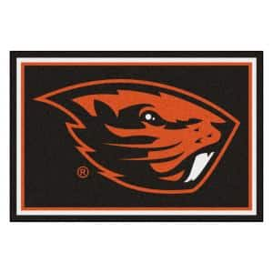 NCAA - Oregon State University Black 8 ft. x 5 ft. Indoor Area Rug