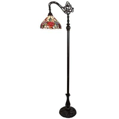 62 in. Tiffany Style Arched Floor Lamp