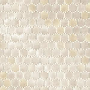 Hexagon Tile Champagne Peel and Stick Wallpaper (Covers 56 sq. ft.)