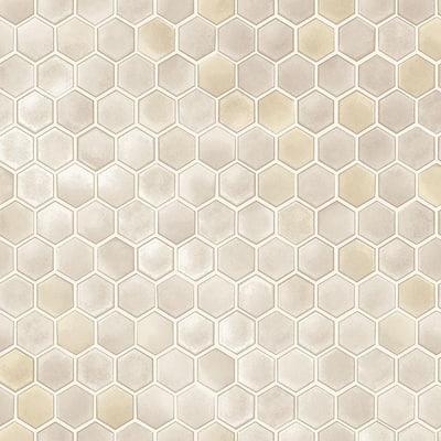 Hexagon Tiles Champagne Wallpaper Sample