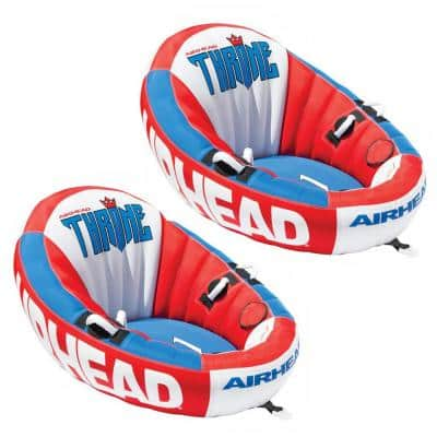 Inflatable Throne 1 Rider Sofa Design Lounging Lake Towable (2-Pack)