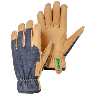 JOB Kobolt Denim Size X-Small 6 Goatskin Leather