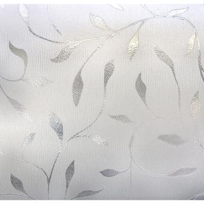 24 in. x 36 in. Etched Leaf Decorative Window Film
