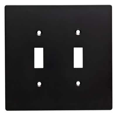 Black 2-Gang Toggle Wall Plate (1-Pack)