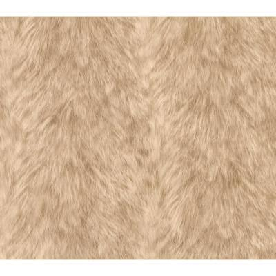 Trieste Beige Wolf Beige Wallpaper Sample
