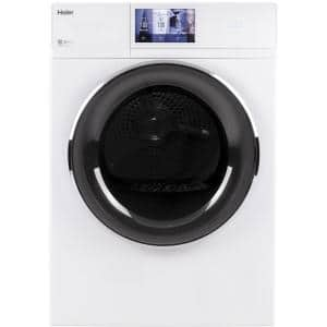 4.3 cu. ft. Smart 240 Volt White Stackable Electric Vented Dryer, ENERGY STAR