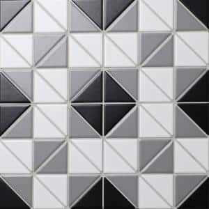 Tre Square Classic Mix 10-3/4 in. x 10-3/4 in. x 6mm Porcelain Mosaic Tile