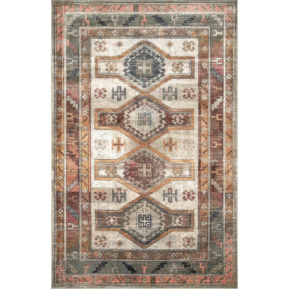 Nuloom Monica Tribal Beige 9 Ft X 12 Ft Area Rug Owmc02c 9012 The Home Depot