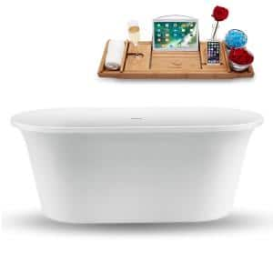 Hydro Systems Richmond 57 In Solid Surface Flatbottom Air Bath And Whirlpool Bathtub In Biscuit Ric5736mta Bis The Home Depot
