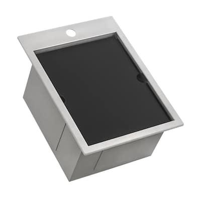 15 in. x 20 in. Single Bowl Workstation Drop-In Marine Grade Stainless Steel Outdoor Sink