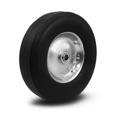 10 in. Flat Free Heavy-Duty Poly Wheel