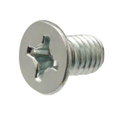 M6-1.0 x 12 mm Phillips Flat Head Zinc Plated Machine Screw (3-Pack)