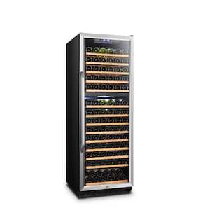 23 in. 160-Bottle Stainless Steel Dual Zone Wine Refrigerator