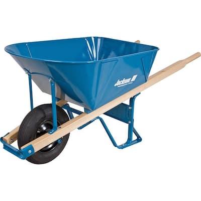 6 cu. ft. Heavy Gauge Folded Steel Wheelbarrow