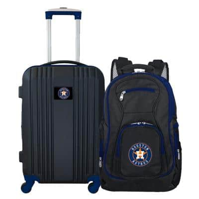 MLB Houston Astros 2-Piece Set Luggage and Backpack