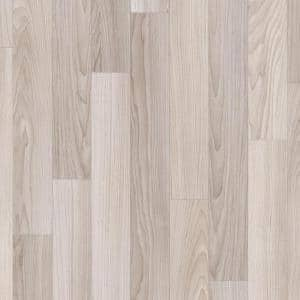 Oak Strip Washed Grey Wood Residential Vinyl Sheet Flooring 12ft. Wide x Cut to Length