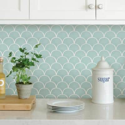 10 in. x 10 in. Shell Peel and Stick Backsplash Tiles