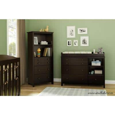 Little Smileys 4-Drawer Espresso Changing Table