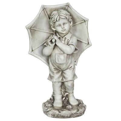Solar Boy with Umbrella Statue