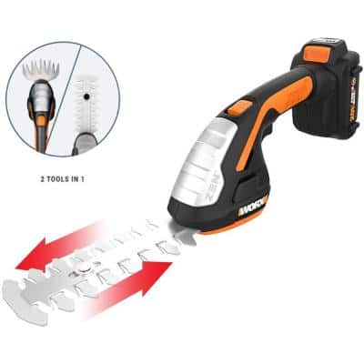 POWER SHARE 20-Volt Cordless Battery Lawn and Garden 4in. Shear & 8 in. Shrub Hedge Trimmer (Battery & Charger included)