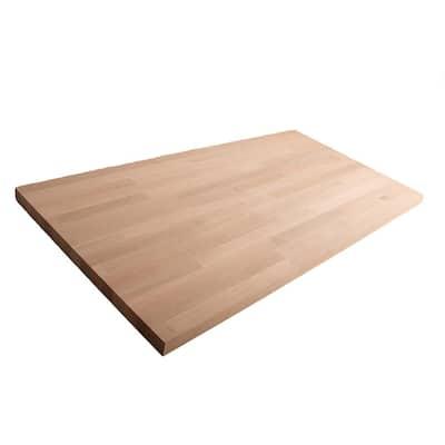 Unfinished White Oak 8 ft. L x 25 in. D x 1.5 in. T Butcher Block Countertop