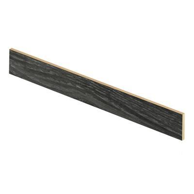 Aspen Oak Black/Noble Oak 94 in. L x 1/2 in. D x 7-3/8 in. H Vinyl Riser