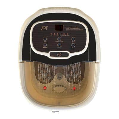 Foot Spa with Motorized Rollers in Beige
