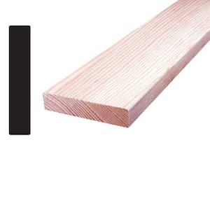 1 in. x 4 in. x 8 ft. Douglas Fir Wood S4SE4E Mixed Grain Board