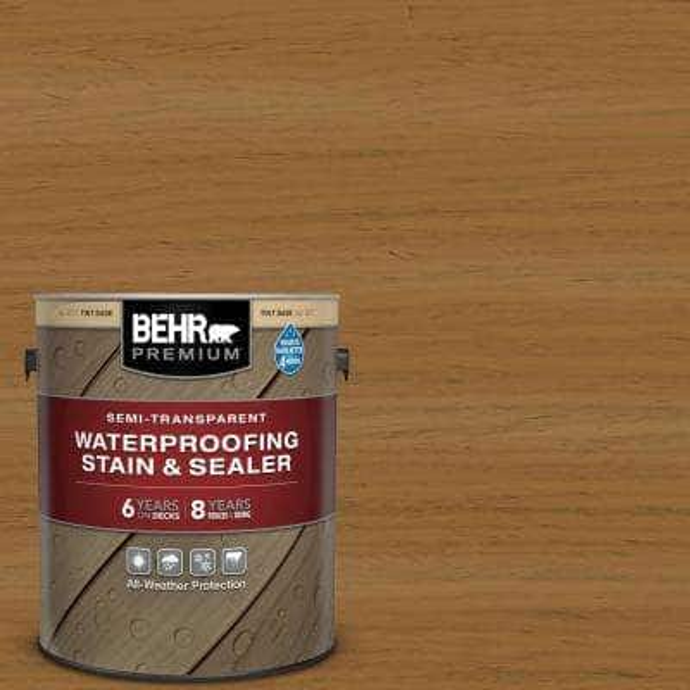 1 gal. #ST-146 Cedar Semi-Transparent Waterproofing Exterior Wood Stain and Sealer