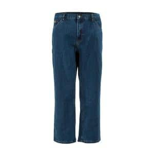 Berne 1915 Collection Men S 34 In X 30 In Stone Wash Dark Cotton Relaxed Fit Carpenter Jeans P423swd34300 The Home Depot