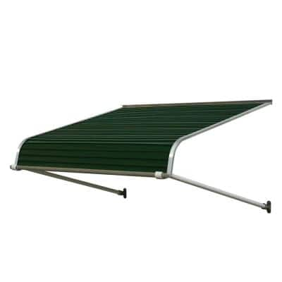 6 ft. 1100 Series Door Canopy Aluminum Awning (12 in. H x 42 in. D) in Evergreen