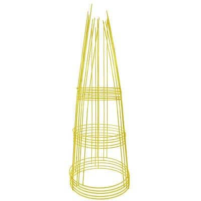 42 in. Heavy-Duty Yellow Tomato Cage (5-Pack)