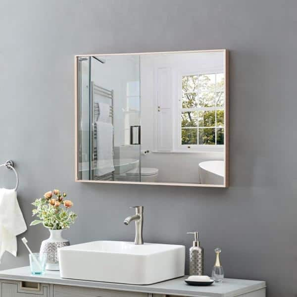 Toolkiss Modern And Contemporary 31 7, Rose Gold Bathroom Mirror Cabinet