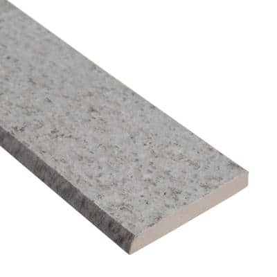 Brixstyle Glacier 2.4 in. x 24 in. Bullnose Matte Porcelain Wall Tile (24 lin. ft./Case)