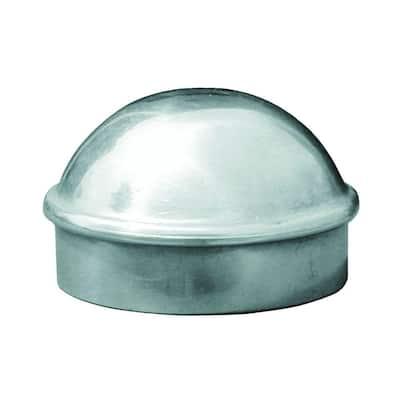 2.375 in. x 2.375 in. Aluminum Silver Post Cap