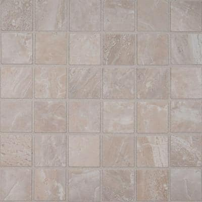 Onyx Grigio 12 in. x 12 in. x 10mm Matte Porcelain Mesh-Mounted Mosaic Tile (8 sq. ft. / case)