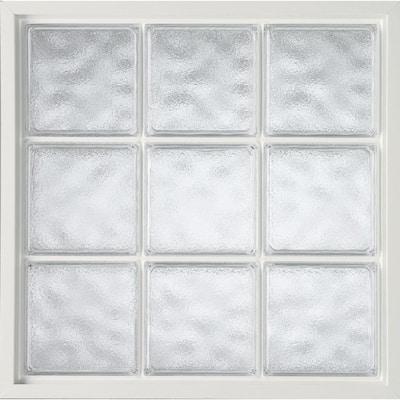 42 in. x 42 in. Acrylic Block Fixed Vinyl Window in White