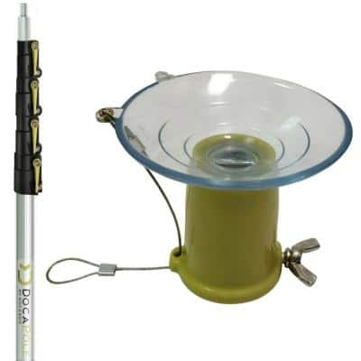 High Reach Suction Cup Light Bulb Changer Kit with 7 ft. - 30 ft. Telescopic Extension Pole