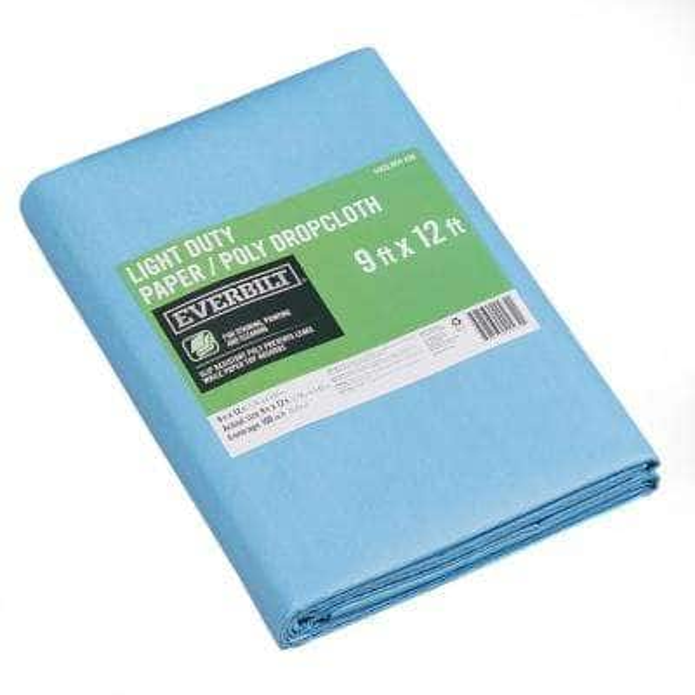 9 ft. x 12 ft. Slip Resistant Paper/Poly Drop Cloth