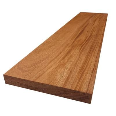 2 in. x 12 in. x 6 ft. African Mahogany S4S Board