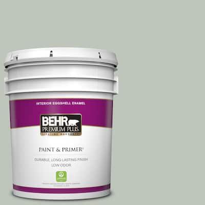 5 gal. #N410-3 Riverdale Eggshell Enamel Low Odor Interior Paint & Primer