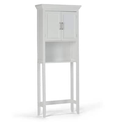 Avington 27 in. W x 67 in. H x 10 in. D White Over-the-Toilet Storage