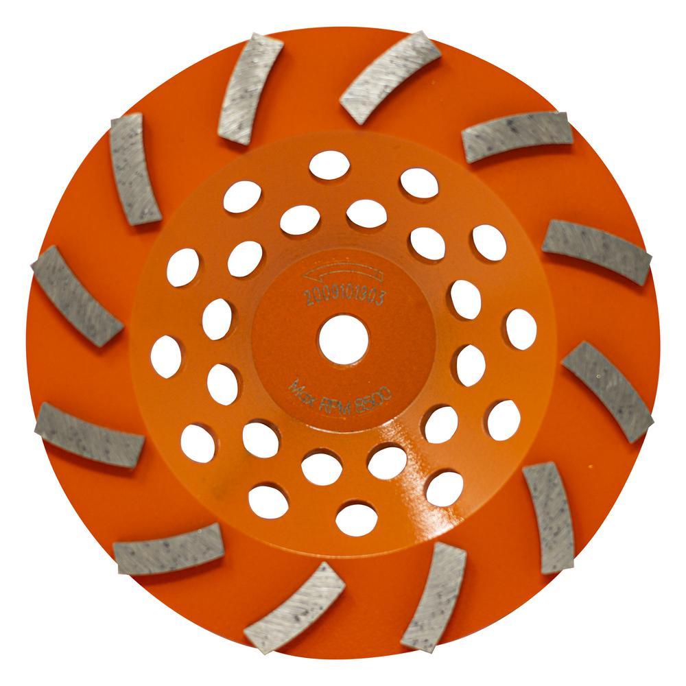 7 in. 12-Segment Turbo Cup Grinding Wheel