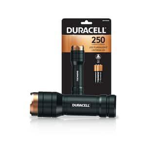 250 Lumen Aluminum LED Flashlight Single Mode with Batteries