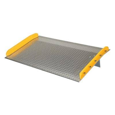 10,000 lb. Capacity 60 in. x 36 in. Aluminum Dock Board with Steel Curb