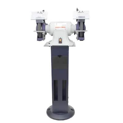 Palmgren 8-in XP Bench Grinder/Pedestal Stand Combo
