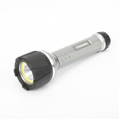 6AA 700 Lumen LED Dual Beam Unbreakable Aluminum Flashlight