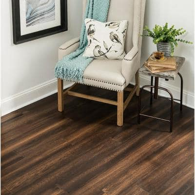 Burnished Saddle .26 in. T x 5.12 in. W x Varying Length Rigid Core Engineered Hardwood Flooring (15.36 sq. ft. / case)