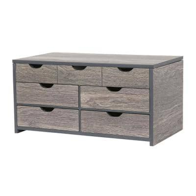 Coventry Oceanside Grey Wooden Jewelry Box