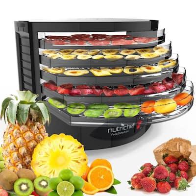 5-Tray Food Dehydrator Electric Kitchen Dehydrator (Black)